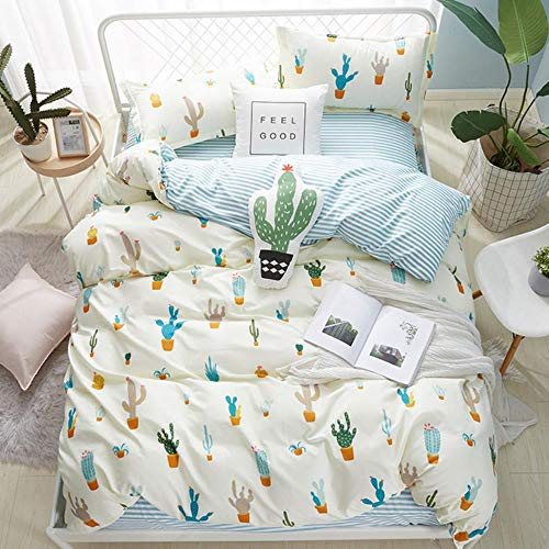 RSM Cartoon Cat Dog Bedding Sets Simple Cute Bed linens Children Kids Duvet Cover Comforter Quilt Cover Bed Sheet Queen King Size,style8,180x220cm