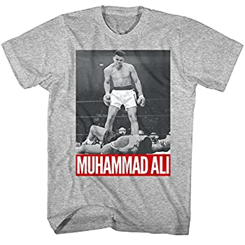 Muhammad Ali Boxing Legend The Greatest of All Time Adult T-Shirt Tee Knockout Gray