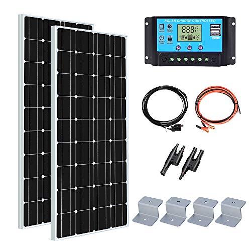 Yuanfengpower Panneau solaire monocristallin 100 W 200 W 300 W 400 W 600 W Panneau solaire très efficace Kit solaire pour bateau, camping-car, caravane Chargeur 12 V