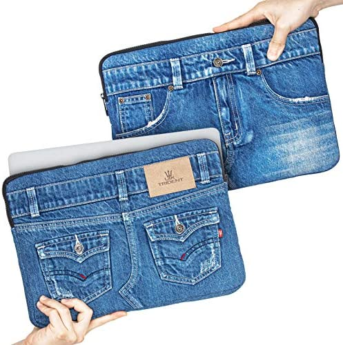 UK Trident Denim 13 Laptop Sleeve Compatible with 13 3 MacBook Pro MacBook Air and 13 14 Notebooks product image
