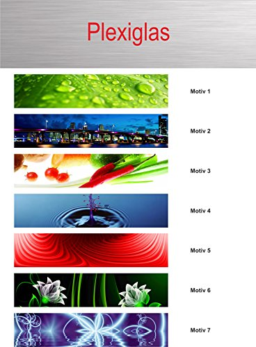 Individuelle Küchenrückwand/Fliesenspiegel - Plexiglas im Wunschformat - 2401mm-2500mm x 500mm-600mm