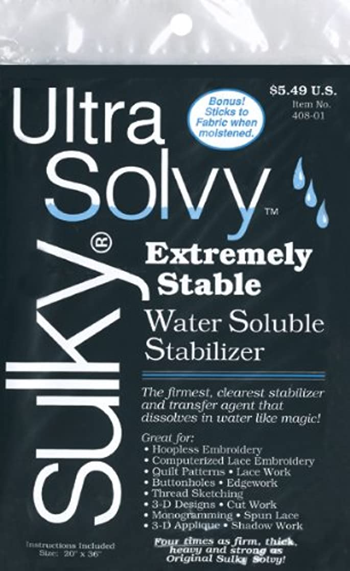 Sulky Ultra Solvy Water Soluble Fabric Stabilizer, 19-1/2 by 36-Inch