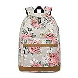 XWQYY Mochila 17 Pulgadas Lienzo Nuevo Escuela Escuela Escuela Bolsa de Escuela Moda Femenino Viajes Escolar Bolsa Mochila Bolsa Bolsa Bolsa de computadora,Grey