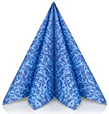 GRUBly tovaglioli di Carta in Blu – Tovaglioli Carta Resistenti Come tovaglioli Stoffa da tavola – Perfetti per Ogni Cerimonia – Tovaglioli Colorati 40 x 40 - qualità Airlaid – Pacco da 50