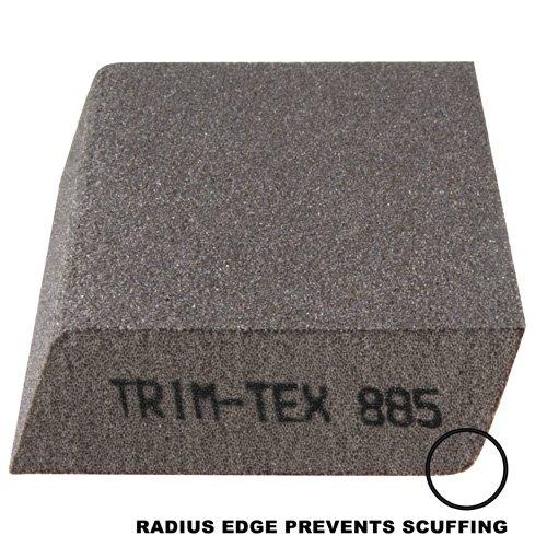 Dual Angle Sanding Block with Anti-Scuff Edge - Medium/Fine Grit (Box of 100)