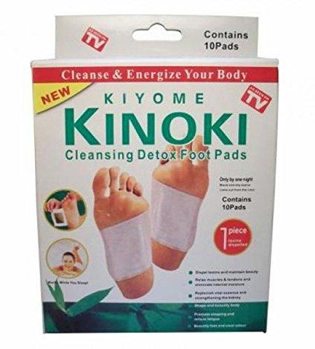 Original Kinoki Detox Fusspads - Vital Plaster für die Füße im 10er Sparpack = 100 Pads - As seen on TV!