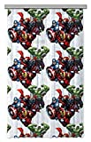 AG Design Avengers Marvel Kinderzimmer Gardine/Vorhang, 1 Teil, Stoff, Multicolor, 140 x 245 cm