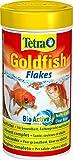 tetra goldfish flakes mangime in fiocchi, per tutti i pesci rossi e altri pesci d'acqua fredda, 250 ml
