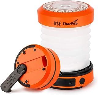 ThorFire LED Camping Lantern Hand Crank USB Rechargeable Lantern Mini Flashlight Emergency Torch Light Tent Lamp CL01 for ...