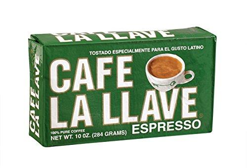 Café La Llave Espresso Coffee, Dark Roast (10-ounce brick)