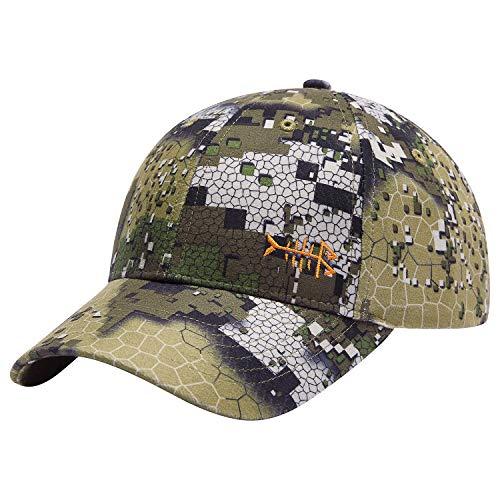 BASSDASH Desolve Camo Fishing Hunting Hat Unisex Adjustable Baseball Cap