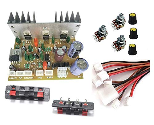 ERH India 2.1 Home Theater Kit Board Amplifier Circuit with Bass Boost and Treble Support TDA2030 Based with Connecting Wires and Volume, Bass, Treble Controllers
