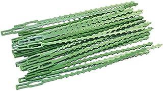 L.J.JZDY buntband 30/100 st trädgårdsbuntband återanvändbar växtstöd buskar fästande träd låsa nylon plastkabelband buntba...