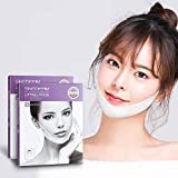 SKEDERM Lifting Band Patch for Face and Chin Line, Reduces Double Chin, V Line, Chin Up, Firming and Moisturizing Mask, Pack of 10