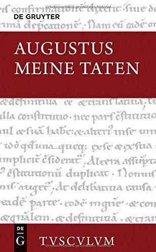 Meine Taten / Res Gestae Divi Augusti (Sammlung Tusculum) by Augustus (2015-05-27)
