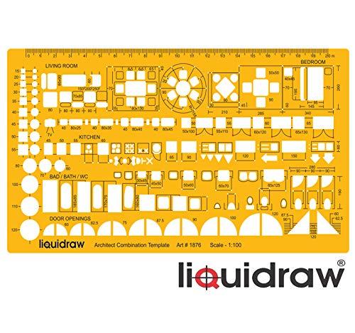 1263S Linex Arquitecto Plantilla Escala 1:50 Ref