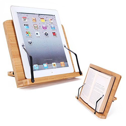 Soporte de Libro para Lectura Atril Ajustable Plegable Estantes Escritorio Portátil para Leer Papeles Documentos Archivos Musical de Piano Tableta Ordenador Ipad Iphone, Regalo Ideal para Lectores