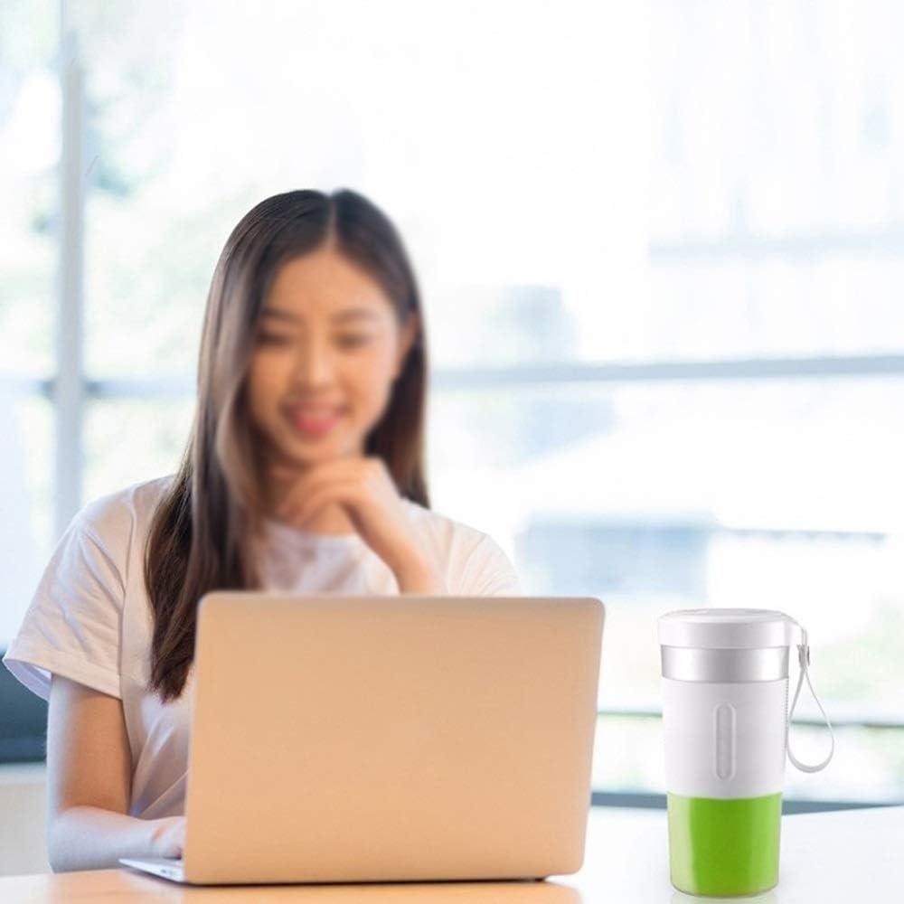 Zoo-yil LQP-jibaj 300ml Personal Blender Portable Cup Juicer électrique de jus de Fruits USB Blender Rechargeable (Color : White) White