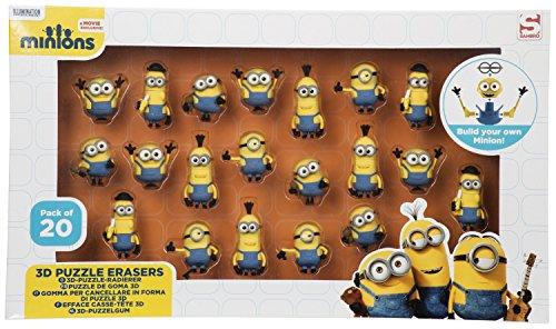 Sambro min3 - 6172 Minion 3D Puzzle Eraser in Window Box (20 Pack)