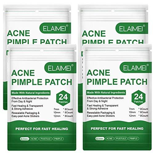 4 fogli acne brufoli riparazione patch copre idrocolloide difetti punti neri rimozione pastiglie trasparenti tag viso cura della pelle trattamento bellezza