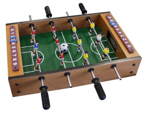 Idena 6170001 - Mini Tischfußball, ca. 34 x 32 cm, inklusive 2 Bälle und 12 Spieler