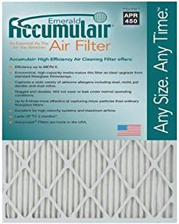 Accumulair FC20X23A_4 MERV 6 Rating Air Filter/Furnace Filters, 20x23x1 (Actual Size) - 4 pack