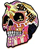 PP Patch Colorful Purple Skull King Cobra Cartoon Zombie Skull Ghost Halloween Art Sew Iron on Embroidered Decoration for Backpacks Bags T-Shirt Clothes Jackets Jeans Hat