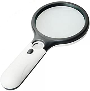 Magnifier 3 LED Light, Marrywindix 3X 45X Handheld Magnifier Reading Magnifying Glass..