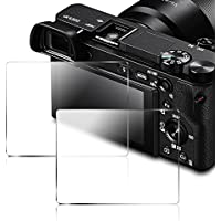 Protector de Pantalla para Sony Alpha DSLR NEX-7 NEX-6 NEX-5 A6000 A6300 A5000 Cámara, AFUNTA Vidrio Templado 9H Cubierta (Paquete de 2)
