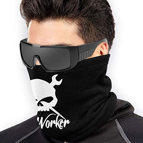 Ironworker Skull Unisex Fleece Neck Warmer Face Warmer Neck Tube Neck Gaiters Neck Scarf Black