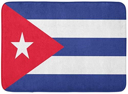 ECNM56B Alfombras de baño Alfombrilla para la Puerta Emblema de la Bandera Cubana Cubana Símbolo gráfico 15.8