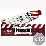 Set 12 PRORASO Crema de afeitar EMOLINENTE 150 ml Perfumes