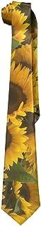 SARA NELL Mens Sunflower Fashion Silk Ties Personalized Gift Neckties