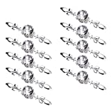Sumnacon Drawer Dresser Knobs Pull Handles - Crystal Glass Diamond Decorative Knobs with Plate, Cabinet Cupboard Door Knobs with Screws for Kitchen Bathroom Office Decoration Pack of 10