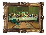 Lnxp - Cuadro de pinturas de 90 x 70 cm para artistas; Zabateri * El cuadro de la noche de Leonardo da Vinci * Cuadro barroco antiguo Repro Renaissance