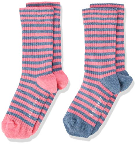 ESPRIT Unisex Kinder Sporty Stripe 2-Pack Socken, rosa (fuchsia 8554), 27-30 (2er Pack)