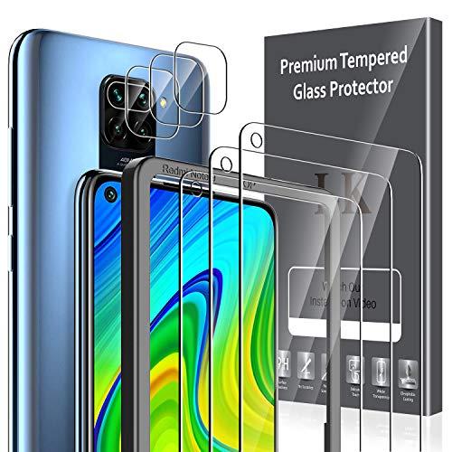 LK 6Stück Panzerglas für Xiaomi Redmi Note 9, Schutzfolie+Kamera Panzerglas, 9H Härte Panzerglasfolie, HD Klar Displayschutz, [Anti-Kratzen] [Blasenfrei] [Einfacher Montage]