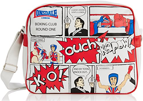 Lonsdale London Tasche Börse Shoulderbag Comic, Off White, 38 X 13 X 30 cm, 111211