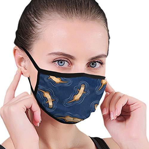 Schwimmen Otters Navy Atmungsaktiv, Staubdicht und Anti-Verschmutzung Masken mit austauschbarem Filter Herren und Damen Verstellbare Ohrring-Masken