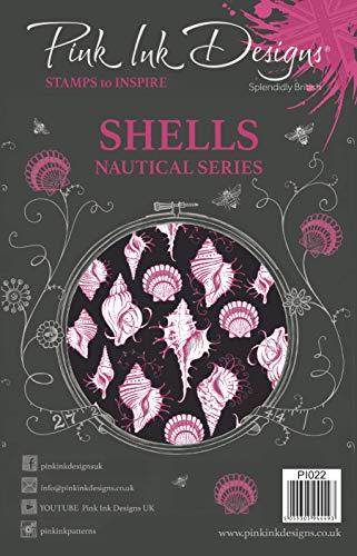 Roze Inkt Ontwerpen Roze Ink-Shells-Clear Stempel, A5