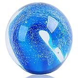 Figuras de vidrio soplado a mano bola olas del océano, pisapapeles bola de cristal, decoración del hogar coleccionable, decoración de acuario, decoración de oficina Ocean Lovers