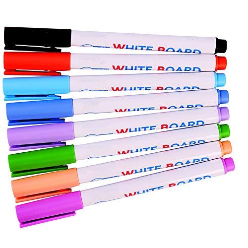 CIKA ホワイトボード ペン 多色 水性 インク速乾 ホワイトボードマーカー カラフル お絵かき 8色