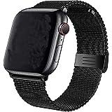 VIKATech Sports Cinturino Compatible per Apple Watch Cinturino 44mm 42mm, Cinturino Orologio Bracciale in Acciaio Inossidabile Cinghia Banda Bracciale per iWatch Series 6/5/4/3/2/1 Ne