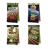 12pcs Star-Wars Party Gift Bag Bolsas de dulces de cumpleaños Yo-da Bolsa de papel reutilizable Kids Party Cajas para suministros de fiesta de cumpleaños temáticos Regalar para niños