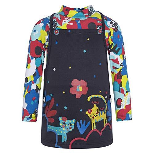 Tuc Tuc Vestido Punto + Felpa NIÑA, Marrón (Marrón 15), 92 (Tamaño del Fabricante:2A) para Bebés