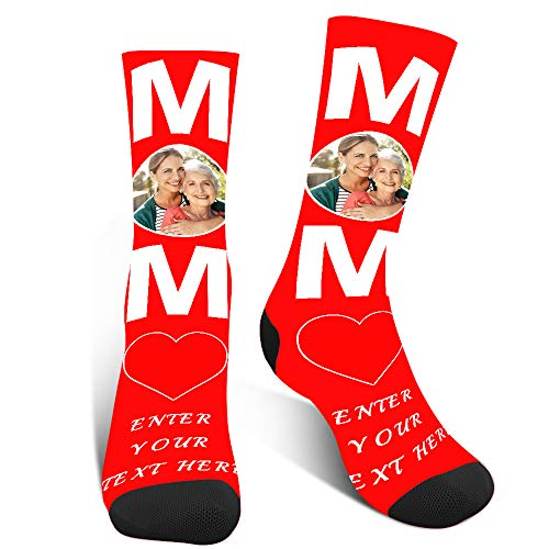Socken Personalisiert Lustige, Witzige Socken Mit Foto, Verrückte Socken Damen,Familiensocken Zum Muttertagsgeschenk