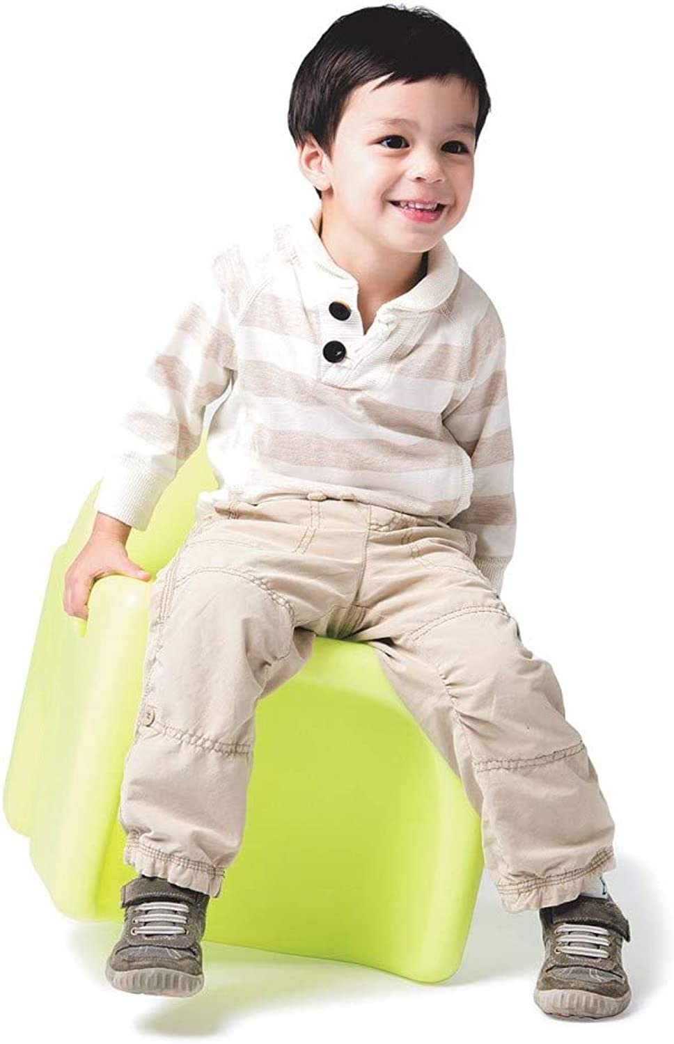 Viggi Kids VG-12-lime Vidget 3-in-1 Flexible Made in The USA-Medium 12  Seat Height Ages 3-6 Active, Stool & Desk, Lively Lime