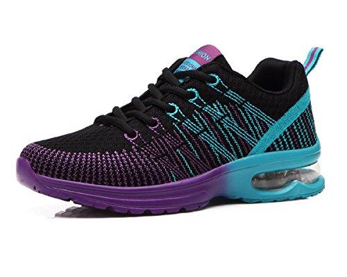 Zapatos de Running Para Mujer Zapatillas Deportivo Outdoor Calzado Asfalto Sneakers Negro 37
