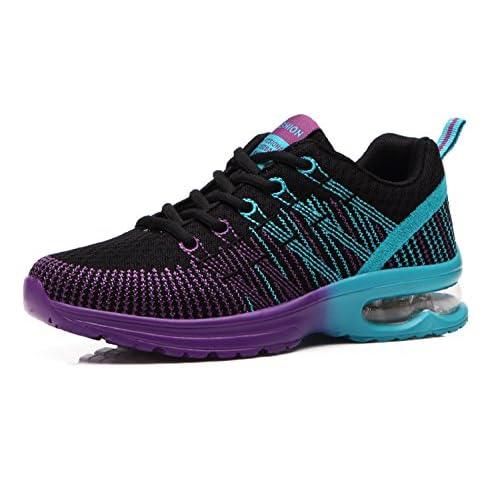 Donna Scarpe da Running Sportive Corsa Sneakers Ginnastica Outdoor Multisport Shoes Nero 35