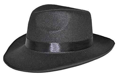 Al Capone Mafia Hut - Schwarz - Zubehör zum zum 20er Jahre Gangster Boss Kostüm - Karneval Mottoparty Junggesellenabschied Theater